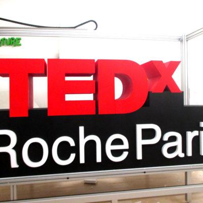 lettrage 3D polystyrene pour Tedx