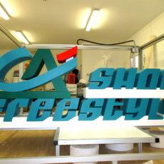 réalisation logo 3D en polystyrène du Crédit Agricole