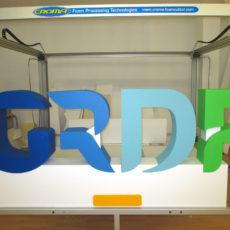 Lettrage polystyrène pour GRDF
