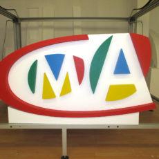 logo en volume 3D MMA