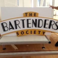 logo 3d the bartenders en polystyrène par Polydecoup