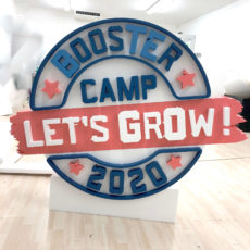 Logo 3d polystyrène pour Booster Camp par Polydecoup