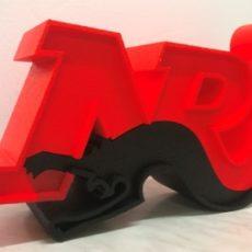 logo 3D polystyrene nrj