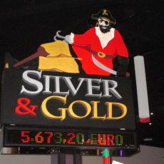 logo polystyrene silver et gold par polydecoup