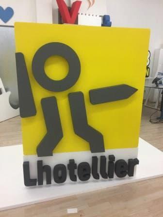 logo en 3D polystyrène